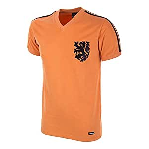 Copa Men's Holland World Cup 1974 Short Sleeve Retro Football Shirt, Orange, X-Large