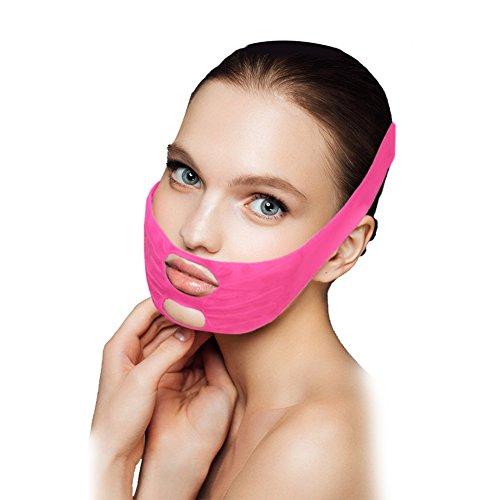 Gesicht Abnehmen Maske, das Wangen-Maske abnimmt, Silikon-Gesichts-anhebende Masken-Kinn-Wangen-Abnehmen Anti-Falten-Bügel-Band-Gurt durch Filfeel