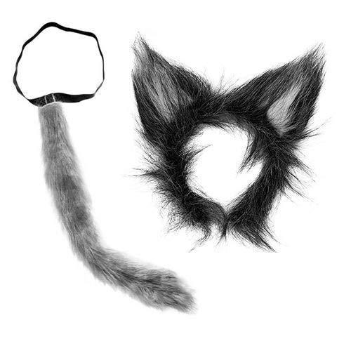 Kind Kostüm Werwolf Deluxe - SeeMeInThat Wolf-Ohren New Big Bad Plüsch Grau Kostüm Werwolf Deluxe Erwachsene