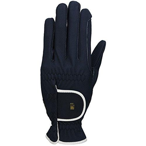Roeckl Sports Damen Handschuh Lona, Damenreithandschuh, Marine/Weiß, 6,5