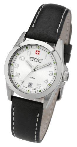 Swiss Military - 06-6030.04.001.07 - Montre Femme - Quartz - Analogique - Bracelet cuir noir