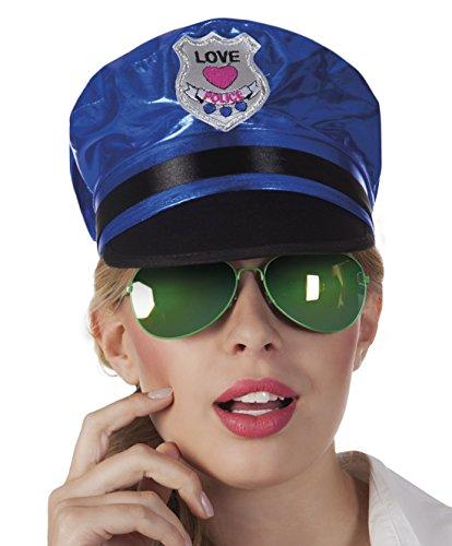 Zauberclown - Police, Polizistin, Brille, Kostüm, Sonnenbrille, (Junge Kostüme Polizistin)