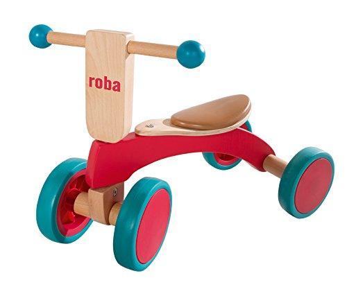 *roba Holz Rutscher, Kinderfahrzeug aus Holz, Kleinkind Laufrad/Sitzroller ab 1 Jahr*