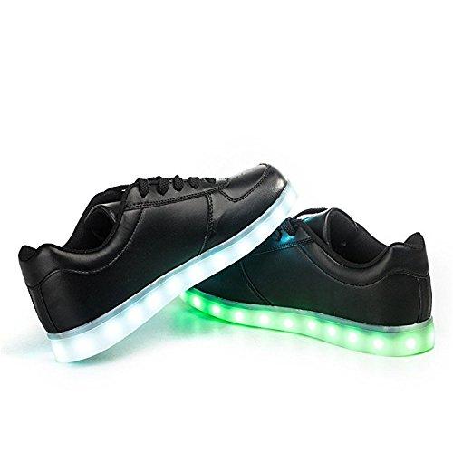 d0473e6add4 Envio 24 Horas Usay like Zapatillas LED Con 7 Colores Luces Carga ...