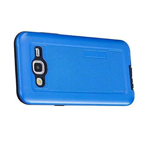 2 in 1 neue Rüstung Solid Color Dot Pattern mattiert Stil Hybrid Dual Layer Rüstung Defender PC Hard zurück Fall Deckung Shockproof Case Für Samsung J5 ( Color : Rose Gold , Size : Samsung J5 ) Blue