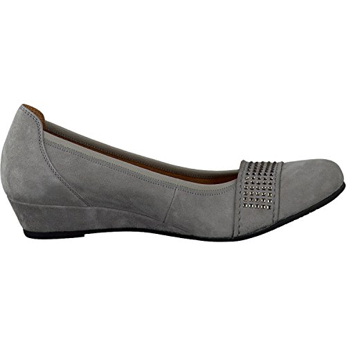 Gabor Comfort Damenschuhe 42.696 Damen Ballerinas Slipper Slip-On Grau