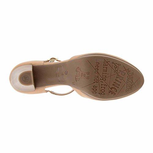 chaussures peau talon pelle Wonders I-3364 CHÂTAIGNE