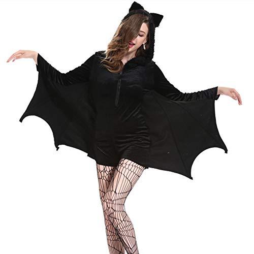 Kostüm Skelett Damen Erwachsene Sexy Schicke Für - NCY Halloween Cosplay Fledermaus Kostüm Sexy Vampir Frauen Größe Weihnachtsgeschenke,XXXXL