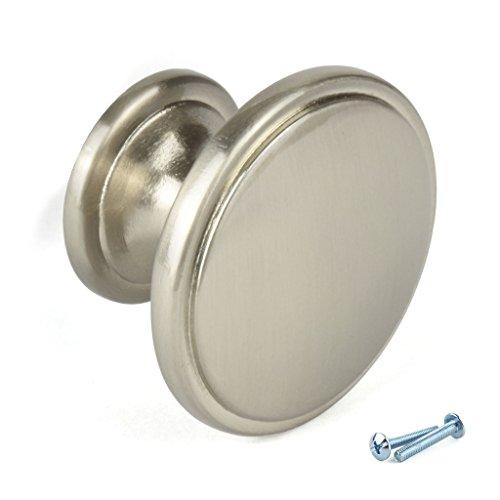 M4TEC pomelli per ante armadio, per mobili cucina, cassetti, mobili camera  da letto, finitura Nikel Spazzolato. F9 serie. Diametro: 38 mm