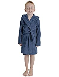 edaaab3f61 Children Dressing Gown Kids Boys Girls Hooded Towelling Bathrobe 100% Cotton  Terry Towel Soft Towlling