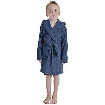 b04adfd28d316 CityComfort Enfants Dressing Robe Enfants garçons Filles Capuche Peignoir  Peignoir 100% Coton éponge Serviette de Bain Robe Douce Usure de Salon 7-13  Ans ...