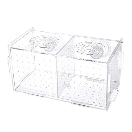 POPETPOP Aquarium Zucht Isolation Box Aquarium Inkubator Brutkästen Elternschaft Box multifunktionale Acryl Aquarium…