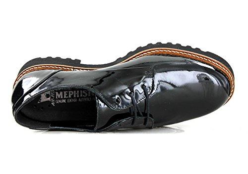 MEPHISTO DONNA, SABATINA ,GREY, VERNICALF 4203, SCARPA STRINGATA Nero