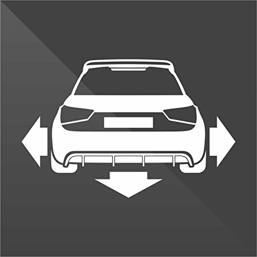 erreinge Sticker Audi A1 Bianco White Blanc Blanco Weiß Down And out Dub - Decal Cars Motorcycles Helmet Wall Camper Bike Adesivo Adhesive Autocollant Pegatina Aufkleber - cm 10