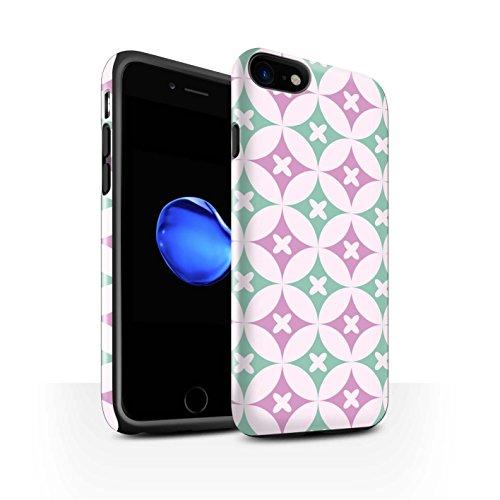 STUFF4 Glanz Harten Stoßfest Hülle / Case für Apple iPhone 8 / Blau/Braun Muster / Kaleidoskop Kollektion Pink / Grün