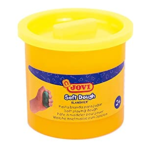 Jovi - Soft Dough Blandiver, Estuche de 5 Botes, 110 g, Color Amarillo flúor (45004F)