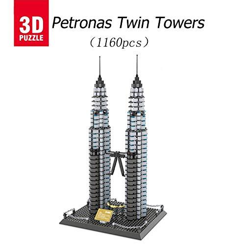 asdfgh Petronas Twin Towers,3D-Modell Puzzle BAU Eines Modell Puzzle Puzzle 3D,Geschenke Und Andenken Für Erwachsene Und Kinder,Es Ist Auch Sehr Schön, Den Raum Damit Zu Schmücken -