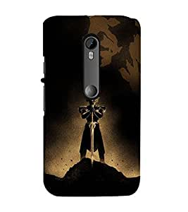 99Sublimation Alone Warrior with Sword 3D Hard Polycarbonate Back Case Cover for Motorola Moto G3 :: G 3rd Gen :: G Gen 3 :: G Dual SIM 3rd Gen :: G3 Dual SIM