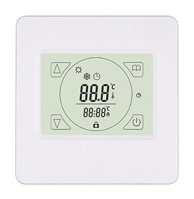 SM-PC®, Raumthermostat Thermostat programmierbar mit Touchscreen #846 weiss von sm-pc - Lampenhans.de