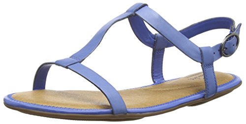 Clarks - Risi Hop, Sandalo da donna, blu (blue leather), 37