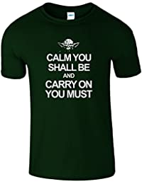 SNS Online Navy Blue - Youth (XS) Kids 3-4 Years Calm Carry YODA Kids Girls Boys Unisex T Shirt
