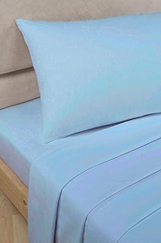 100 % Egyptian Cotton 200 TC King Flat Sheet, SKY BLUE