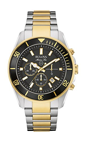 bulova-marine-star-mens-quartz-watch-with-black-dial-chronograph-display-and-two-tone-stainless-stee