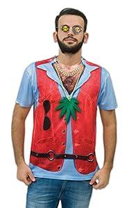 Zoelibat - Camiseta para hombre, vello del pecho, manga corta, tamaño M, multicolor (14017042.014.)