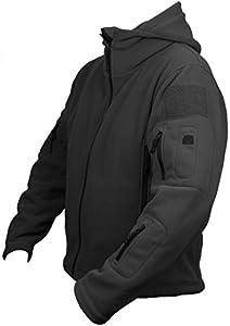 Veste Polaire à Capuche Homme Uniforme Combat Armée Militaire Police Tactique