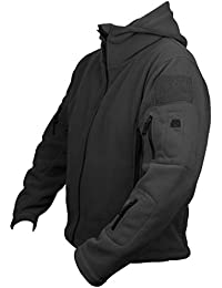 Savage Island Mens Windproof Tactical Military Army Combat Fleece Recon Hoodie Jacket Security Police