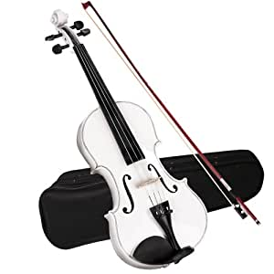Violin 4/4 Size (White) Beginners Students Outfit with