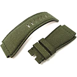 Bell & Ross BR01 Type Military Green Canvas Replacement Watch Strap
