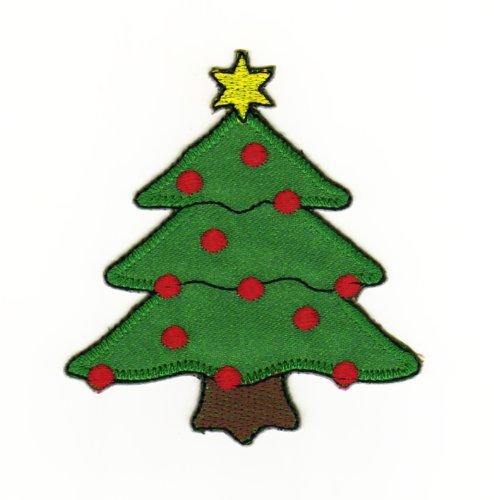 Aufnäher Bügelbild Aufbügler Iron on Patches Applikation Weihnachten Stern Baum Weihnachtsbaum Kinder Winter