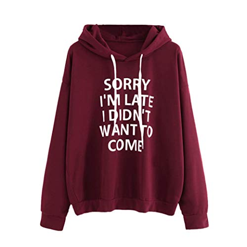 TWIFER Damen Frauen Oansatz Hoodies Pullover Jumper Langarm Brief Print ()