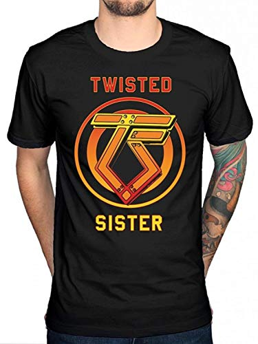 Men Cotton T Shirt Twisted Sister You Can't Stop Rock N Roll T Shirt Heavy Metal Rock Band Fashion Cause Tee Tops (Twisted Sister-t-shirt)