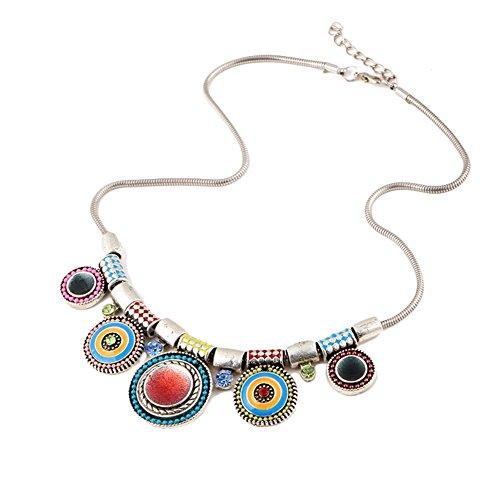 Hosaire Collare de Plata Moda Mujer de Por goteo Bohemia Largo Cadena Encantos Suéter Collar Accesorios de la Joyería
