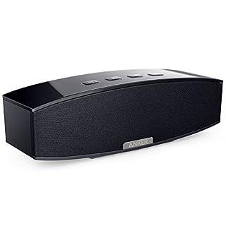 Anker Premium Stereo Bluetooth 4.0 Lautsprecher Speaker, 20W Audio Output aus Dual 10W Drivers, Kraftvollem Bass und Hoher Lautstärke für iPhone, iPad, Samsung, Nexus, HTC und Weitere (Schwarz)