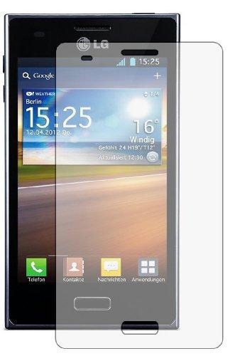 6 x Displayschutzfolie passgenau für LG E610 Optimus L5 - Anti-Kratzer Displayschutz unsichtbar Folie