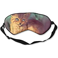 Eye Mask Eyeshade Cat Drawing Sleeping Mask Blindfold Eyepatch Adjustable Head Strap preisvergleich bei billige-tabletten.eu