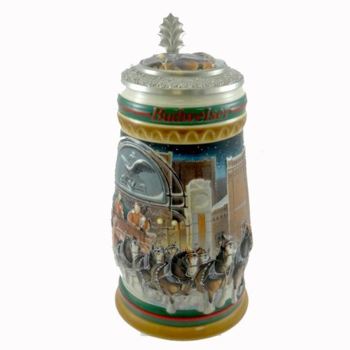 anheuser-busch-home-for-the-holidays-stein-cs313se-christmas-bud-budweiser-new-by-unknown