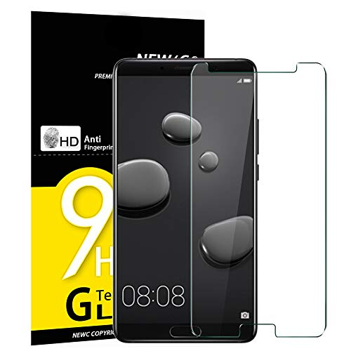NEW'C Verre Trempé pour Huawei Mate 10, Film Protection écran - Anti Rayures - sans Bulles d'air -Ultra Résistant (0,33mm HD Ultra Transparent) Dureté 9H Glass