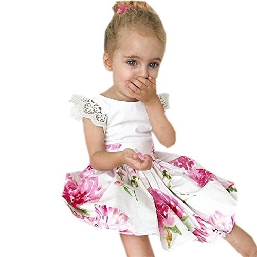 uck Spitze Prinzessin Dress + Stirnband Set (Size5Jahre, Weiß) (Mädchen Funky Kleider)