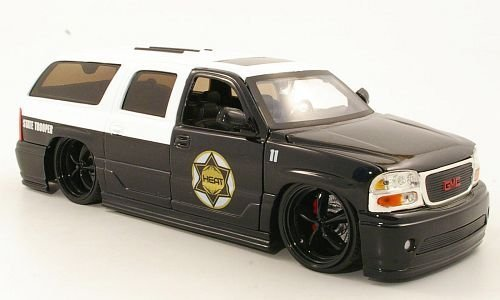 gmc-yukon-denali-tuning-state-trooper-2002-model-car-ready-made-jada-124-by-gmc