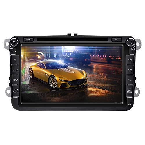 Ohok 8 pollici touchscreen capacitivo 2 DIN DVD veicolo autoradio navigatore satellitare GPS di navigazione del precipitare Bluetooth Car 7 Colore illuminazione dei tasti per VW Jetta Golf Passat