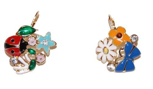 colourful-garden-enamel-french-hook-earrings-featuring-multi-coloured-ladybird-flowers-butterflies-a