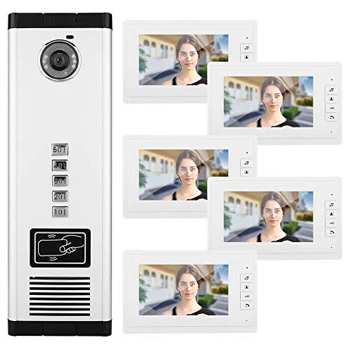 Lcxligang Video-Türsprechanlage Türklingel Home Security Kamera Monitor Intercom-System mit 7-Zoll-LCD-Monitor Unterstützung Nachtsicht Intercom-master-system
