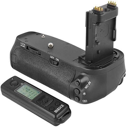 Meike Batteriegriff Akkugriff Battery Grip kompatibel mit Canon 6D Mark II Ersatz für Canon BG-E21 inkl. Fernauslöser mit 2.4 Ghz Funk Frequenz - MK-6D2 Pro -