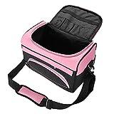 Parrucchiere Bag - Cosmetic Bag, di grande capacità Parrucchieri, allestimenti for sacchetto di trasporto con cinghia Rose Pink