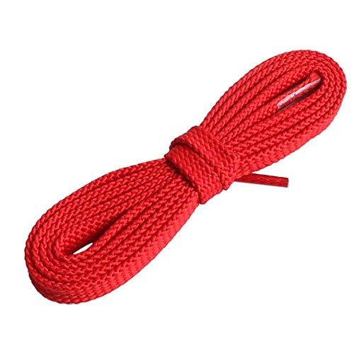 gaddrt Multicolor Fashion cordones cordones planos cordones elásticos para zapatos (repuesto, plano de balón bootlaces Shoelaces cordones cuerdas para Athletic running zapatillas botas de zapatos Casual shoes-fits más tipos Zapatos, rojo