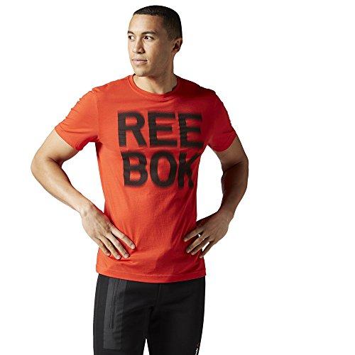 Reebok Reebok Dot Blur Tee-Maglietta da uomo Rojo (RIORED)